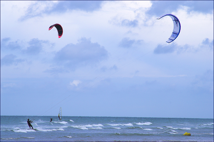 Kiting at Wissant Beach