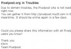 Pixelpost.org in Troubles